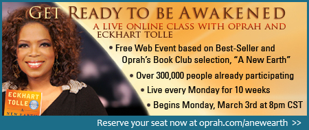 10 Free Weekly Live Events with Eckhart Tolle and Oprah