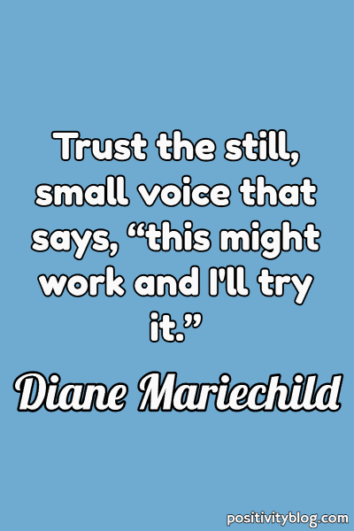 Courage Quote by Diane Mariechild