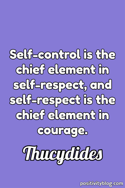 Courage Quote by Thucydides
