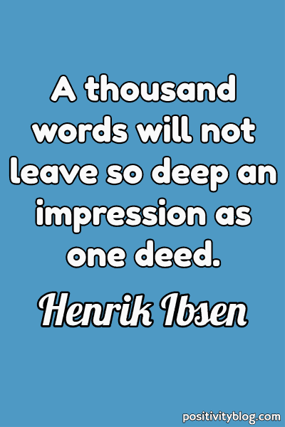 Deep Quote by Henrik Ibsen