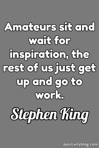 Deep Quote by Stephen King