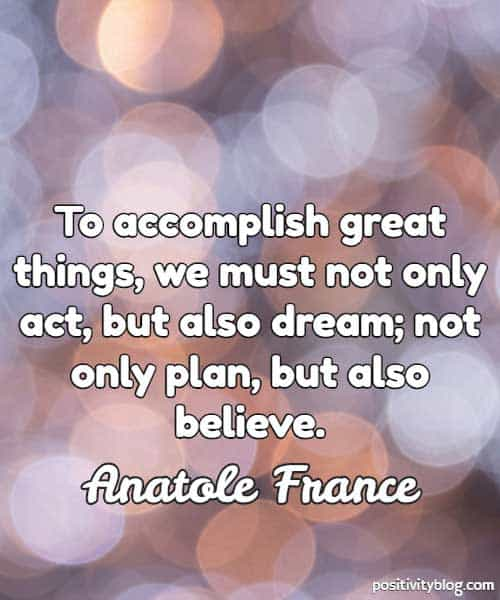 Quote on Dreams by Anatole France.
