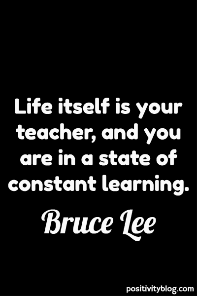 Education Quote by Bruce Lee
