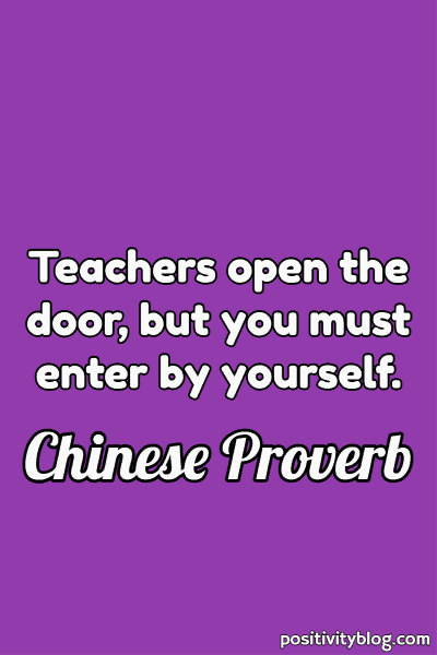 Chinese Education Proverb
