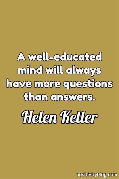 Education Quote by Helen Keller