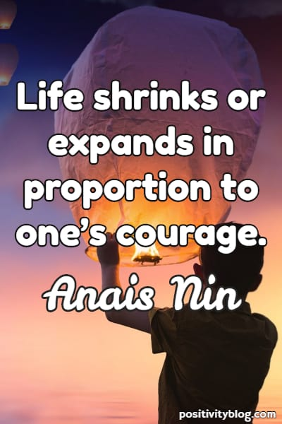 Fear Quote By Anais Nin