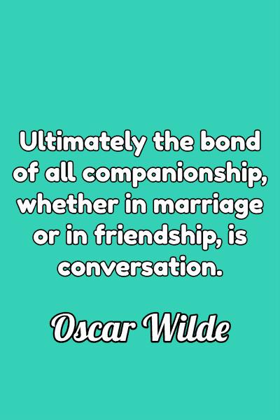 Friendship Quote by Oscar Wilde