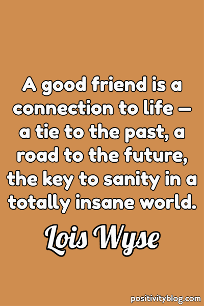 Friendship Quote by Lois Wyse