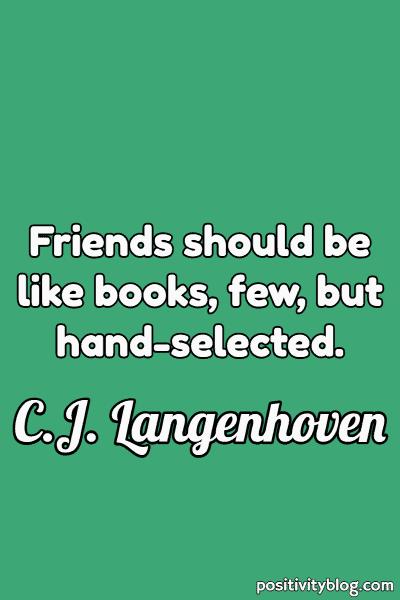 Friendship Quote by C.J. Langenhoven