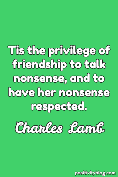 Friendship Quote by Charles Lamb
