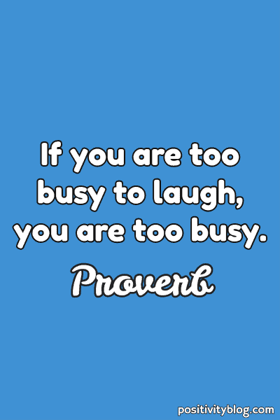 Happiness Proverb