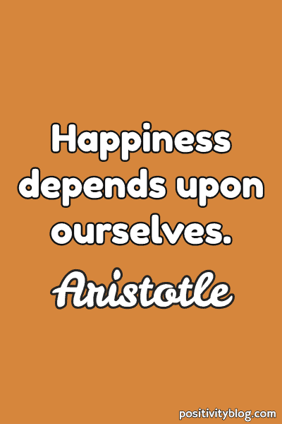 Happiness Quote by Aristotle