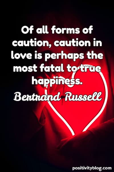 Happiness Quote by Bertrand Russell