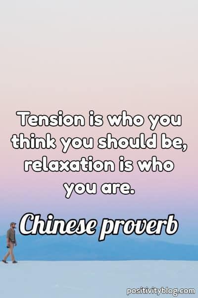 Chinese Proverb about Happiness