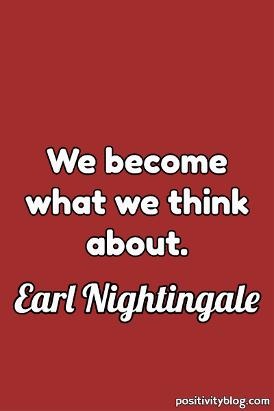 Happiness Quote by Earl Nightingale