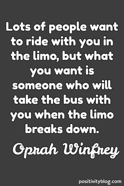 Love Quote by Oprah Winfrey