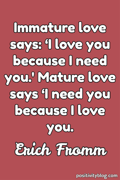 Love Quote by Erich Fromm