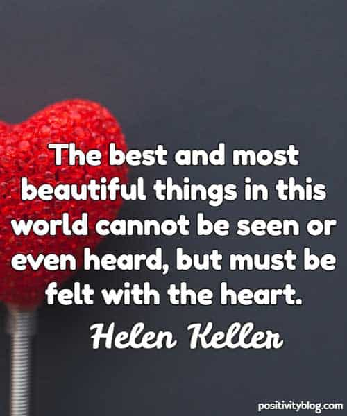 Love Quote by Helen Keller
