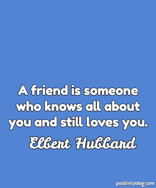 Love Quote by Elbert Hubbard