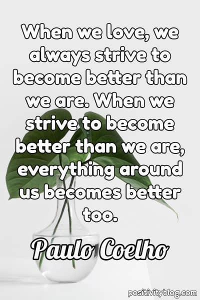 Love Quote by Paulo Coelho