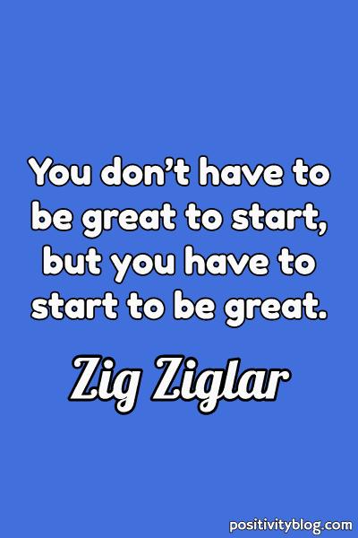 Monday Motivation Quote by Zig Ziglar