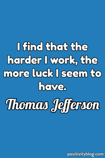 Monday Motivation Quote by Thomas Jefferson