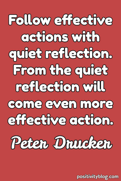 Monday Motivation Quote by Peter Drucker