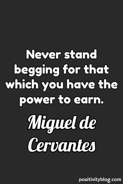 Money and Wealth Quote by Miguel De Cervantes