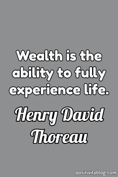 Money and Wealth Quote by Henry David Thoreau