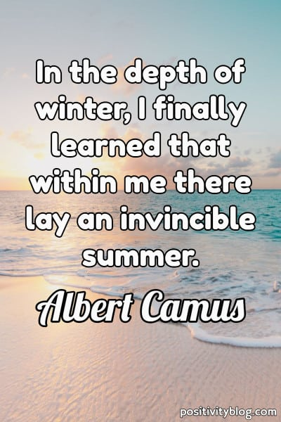 Never Give Up Quotes by Albert Camus