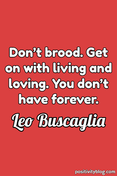 Never Give Up Quotes by Leo Buscaglia