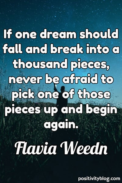 Never Give Up Quotes by Flavia Weedn