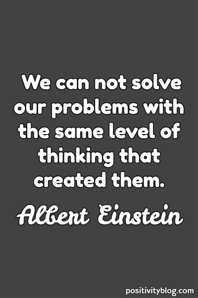 Overthinking Quote by Albert Einstein