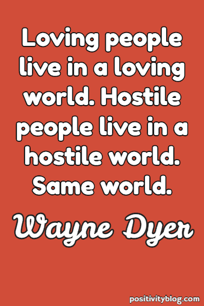Relationship Quote by Wayne Dyer