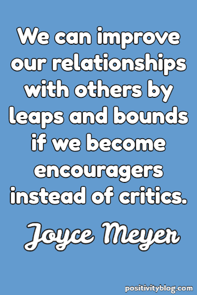 Relationship Quote by Joyce Meyer