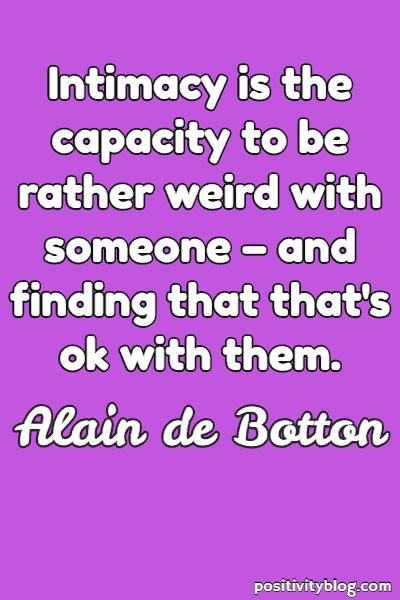 Relationship Quote by Alain De Botton