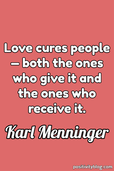 Relationship Quote by Karl Menninger