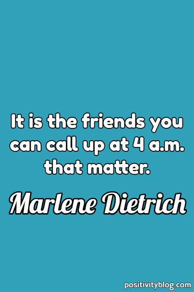 Relationship Quote by Marlene Dietrich