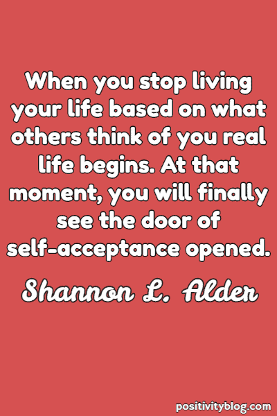 Self-Love Quote by Shannon L. Adler