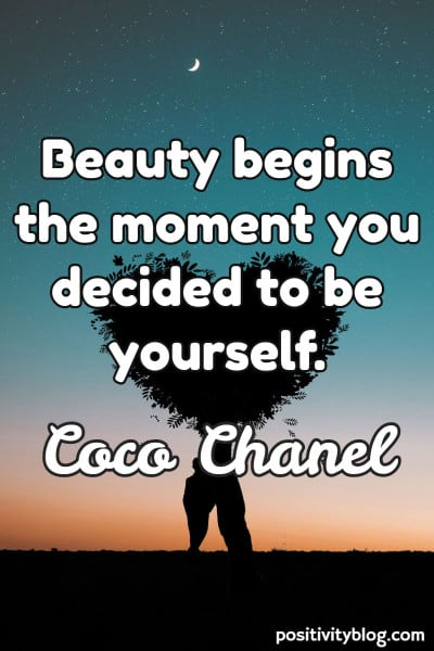 Self-Love Quote by Coco Chanel