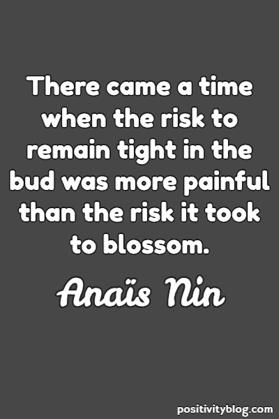 Self-Love Quote by Anais Nin