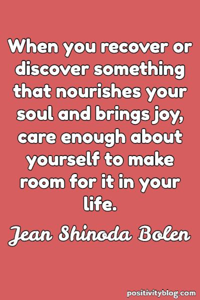 Self-Love Quote By Jean Shinoda Bolen
