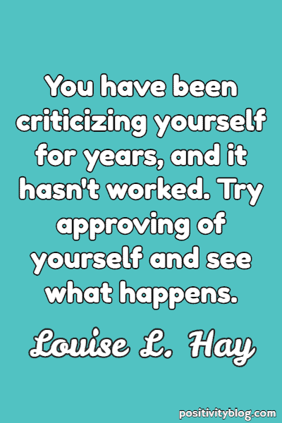Self-Love Quote By Louise Hay