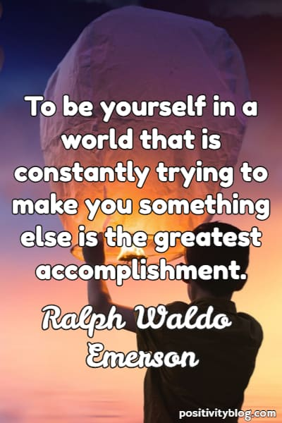 Self-Love Quote By Ralph Waldo Emerson