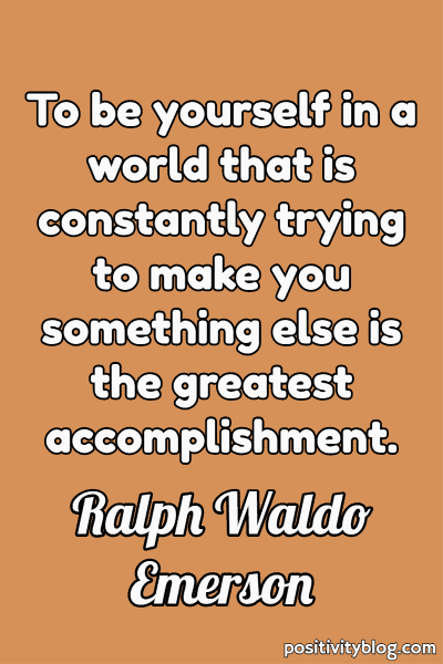 Self Care Quote by Ralph Waldo Emerson