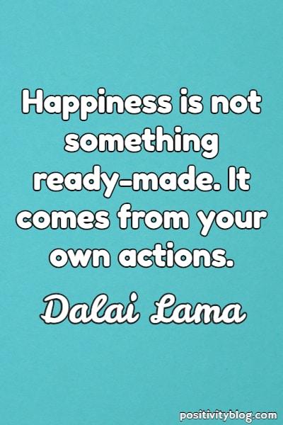 Short quote by Dalai Lama