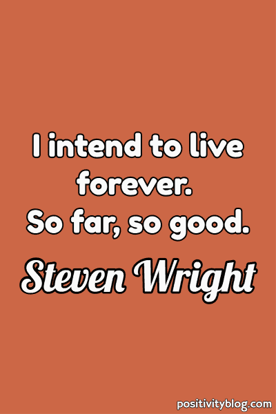 Short Quotes by Steven Wright