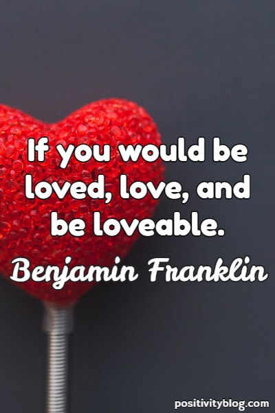 Short quote by Benjamin Franklin