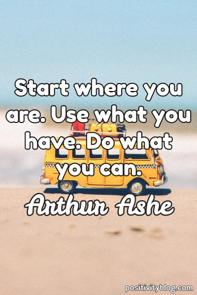 Short Quote by Arthur Ashe