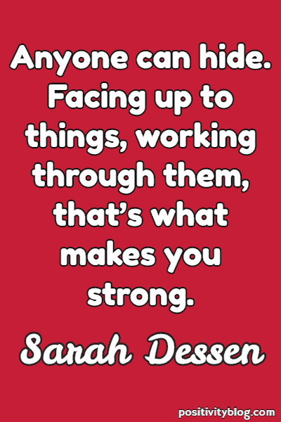Stay Strong Quotes by Sarah Dessen